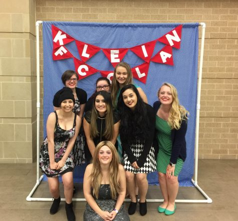 Morgan Calhoun and her previous students from Fashion Design at Klein High School.
