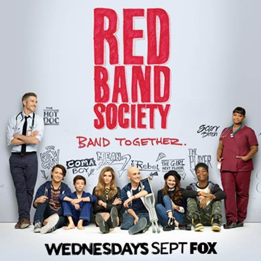 Red Band Society brings the cast together.  Characters from left to right: Dr. Adam McAndrew, Jordi Palacios, Charlie, Kara Souders, Leo Roth, Emma Chota, Dash Hosney, and Nurse Dena Jackson. Courtesy of Google