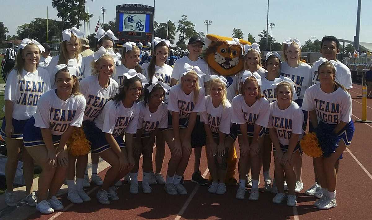 The Klein Cheerleaders show how they're Jacob Strong