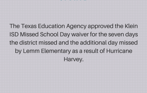 Klein ISD to not make up days missed by Harvey