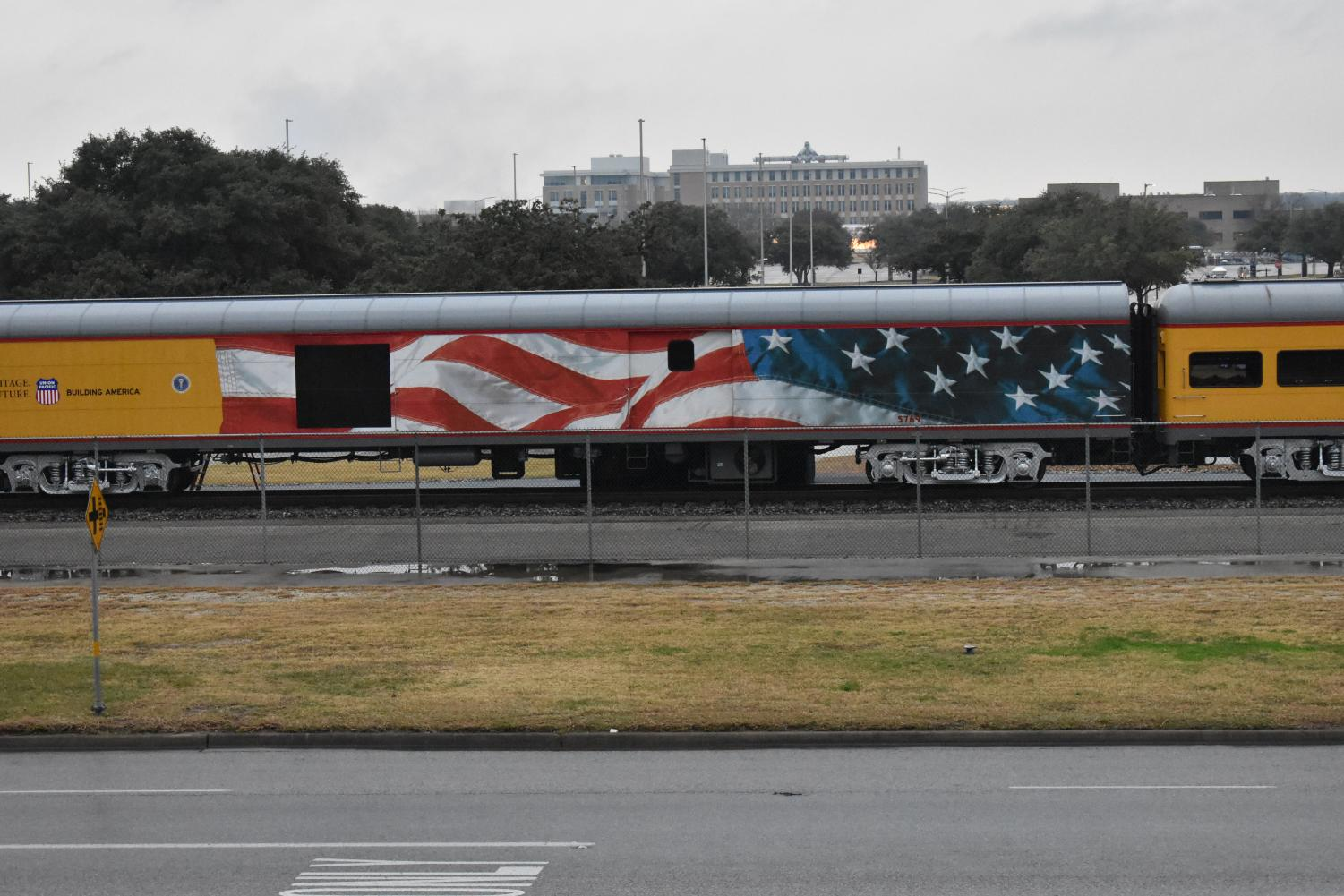 The Bush 4141 Train arrives In College Station.