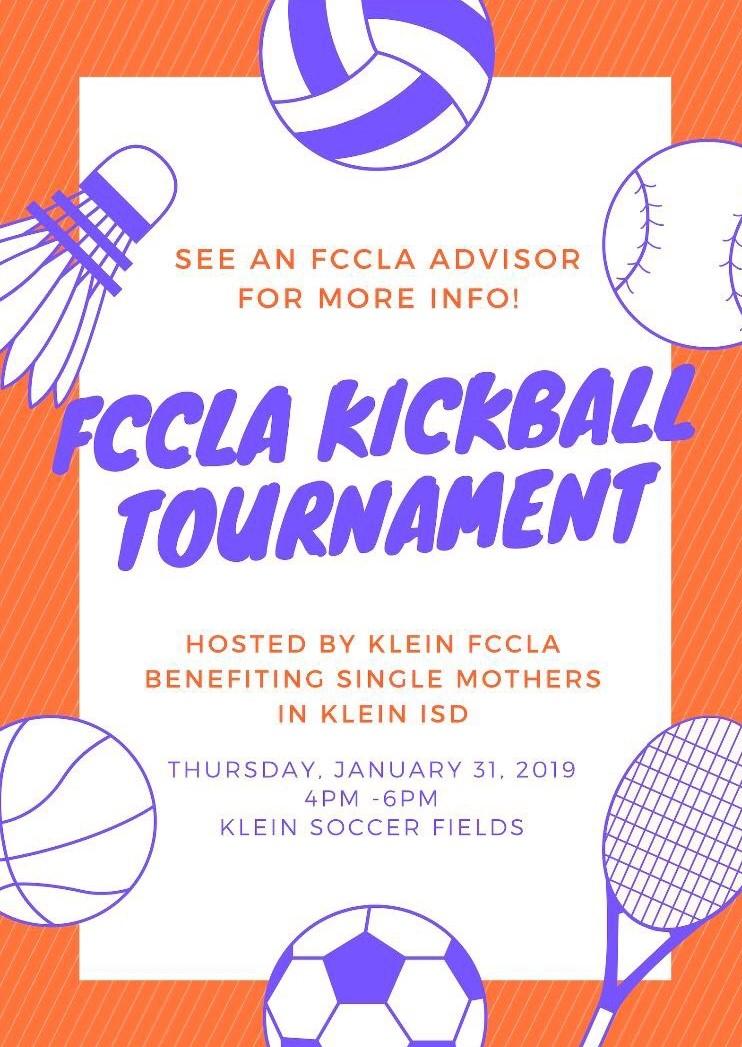 Flyer for kickball tournament.