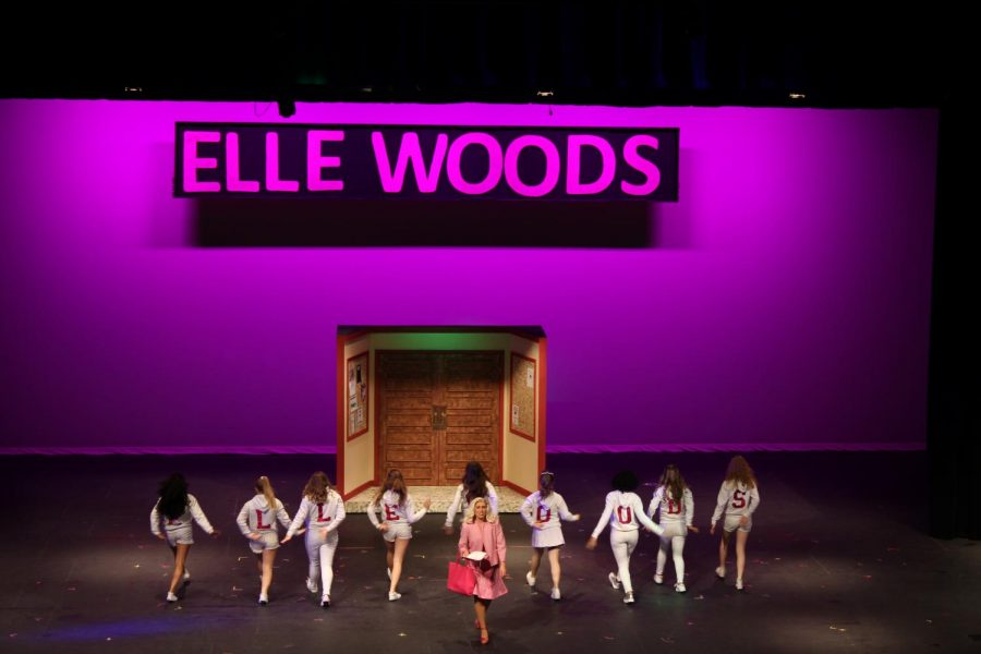 The+actors+dance+as+they+perform+a+scene+during+Legally+Blonde%3A+The+Musical.