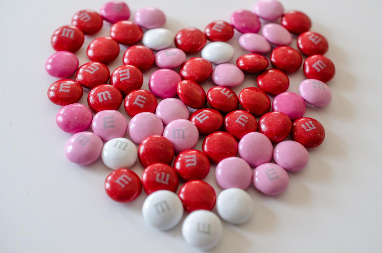 Candy is often a choice of gifts for Valentine's Day.