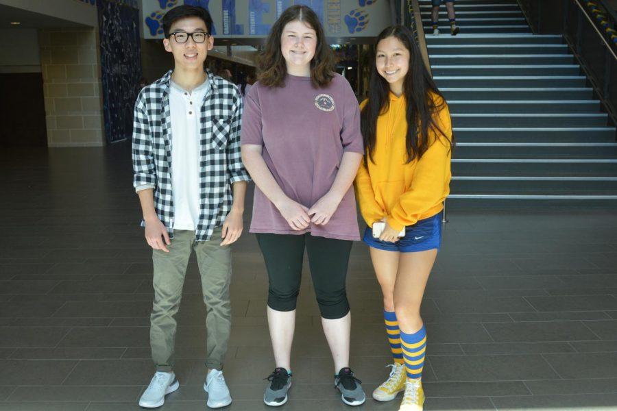 Seniors+and+National+Merit+Scholar+Semifinalists+Andy+Zhou%2C+Emma+Swanson+and+Jasmine+Vonk.