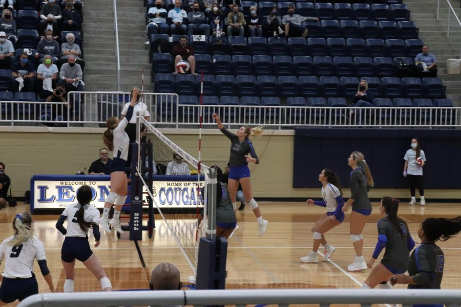 The Klein Volleyball team plays against Flower Mound in the state semifinals.