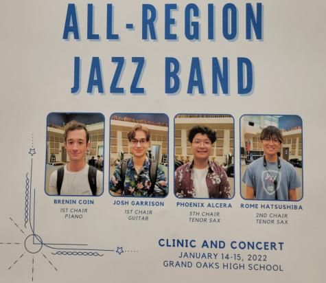 All-Region Jazz Band. Courtesy of Allen Barchak.